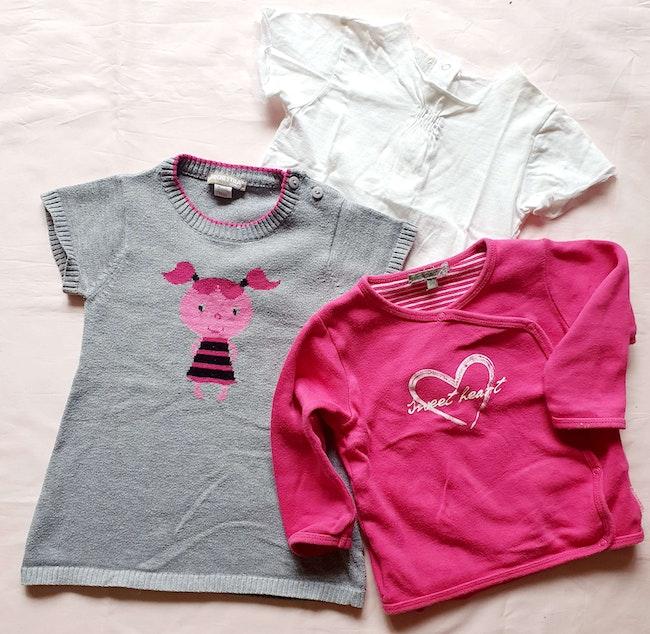Tee shirts et cache coeur