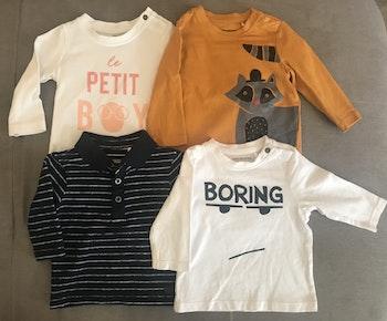 Lot 4 t-shirt neuf 3mois