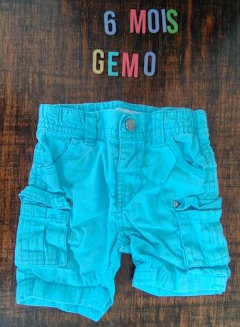 Short bleu 6mois