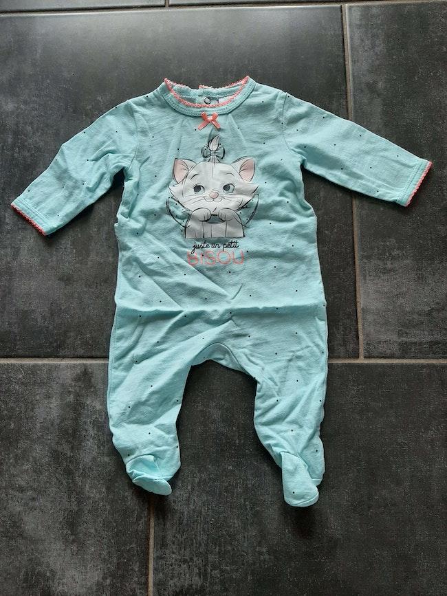 Pyjama Disney Marie en coton 3 mois