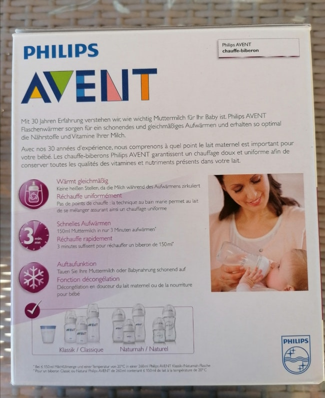 Chauffe biberon Philips Avent