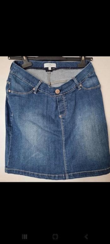 Mini jupe en jeans grossesse