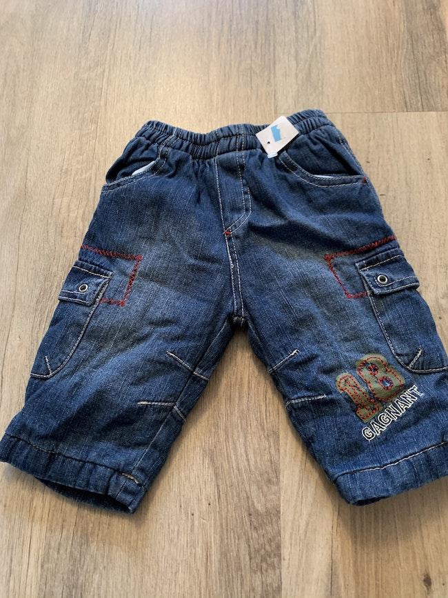 Pantalon jean molletonné