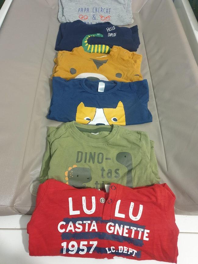 Lot de 6 tee shirt ML 6M