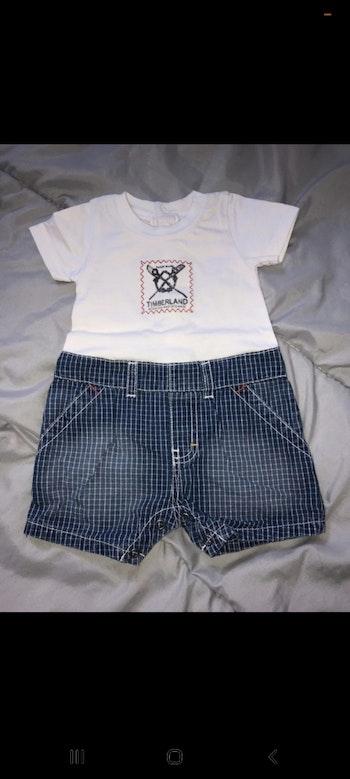 Combishort/ salopette Timberland bébé garçon état neuf taille 1 mois