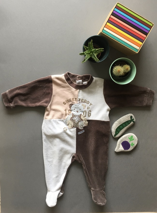 Pyjama chaud en velour motif ourson Absorba