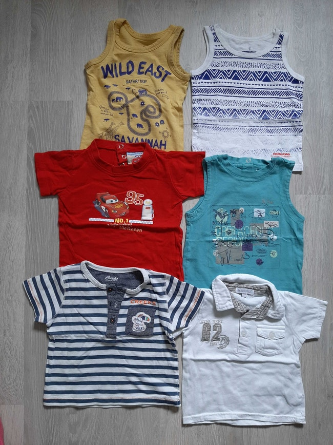Lot t-shirts 12mois