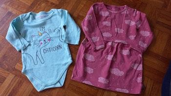 Robe et bosh bébé fille 12 mois