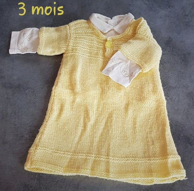 Ensemble robe hiver 3 mois
