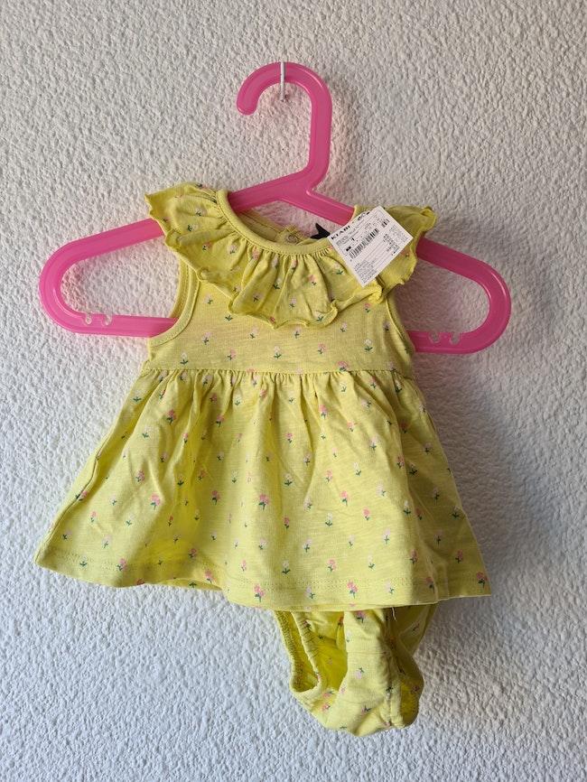 ensemble robe + culotte jaune Kiabi
