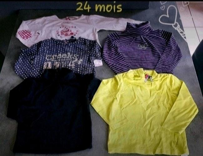 Lot t-shirts hiver 2 ans