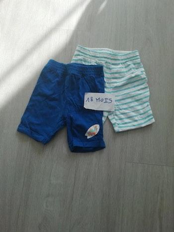 Lot 3 de 2 shorts taille 18 mois
