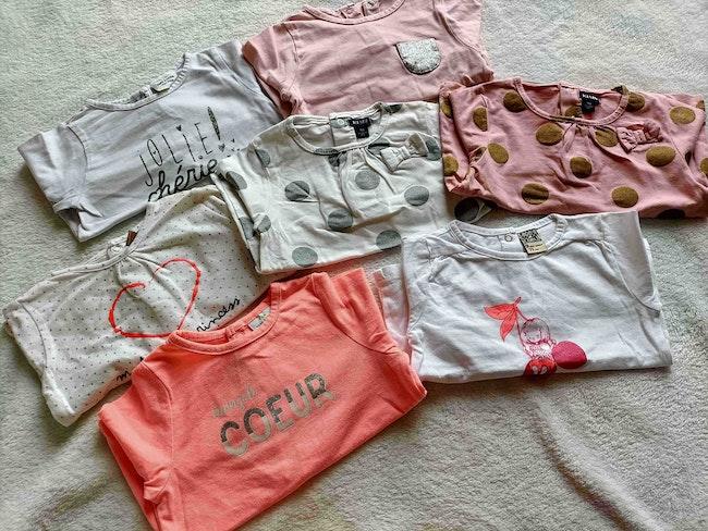 Lot 7 tee shirts 9 mois