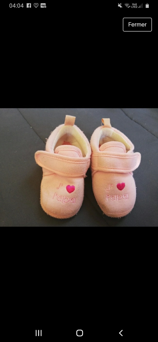 Chausson fille 3/6 mois