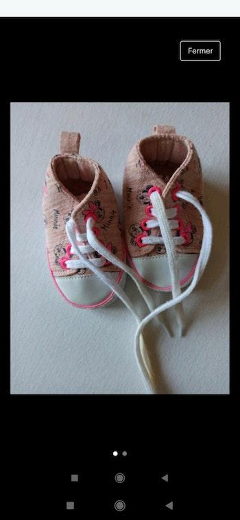 Chaussures bébé Minnie 3-6 mois