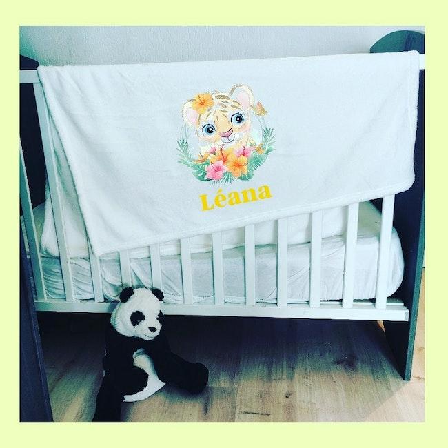 Plaid bébé personnalisé lionceau