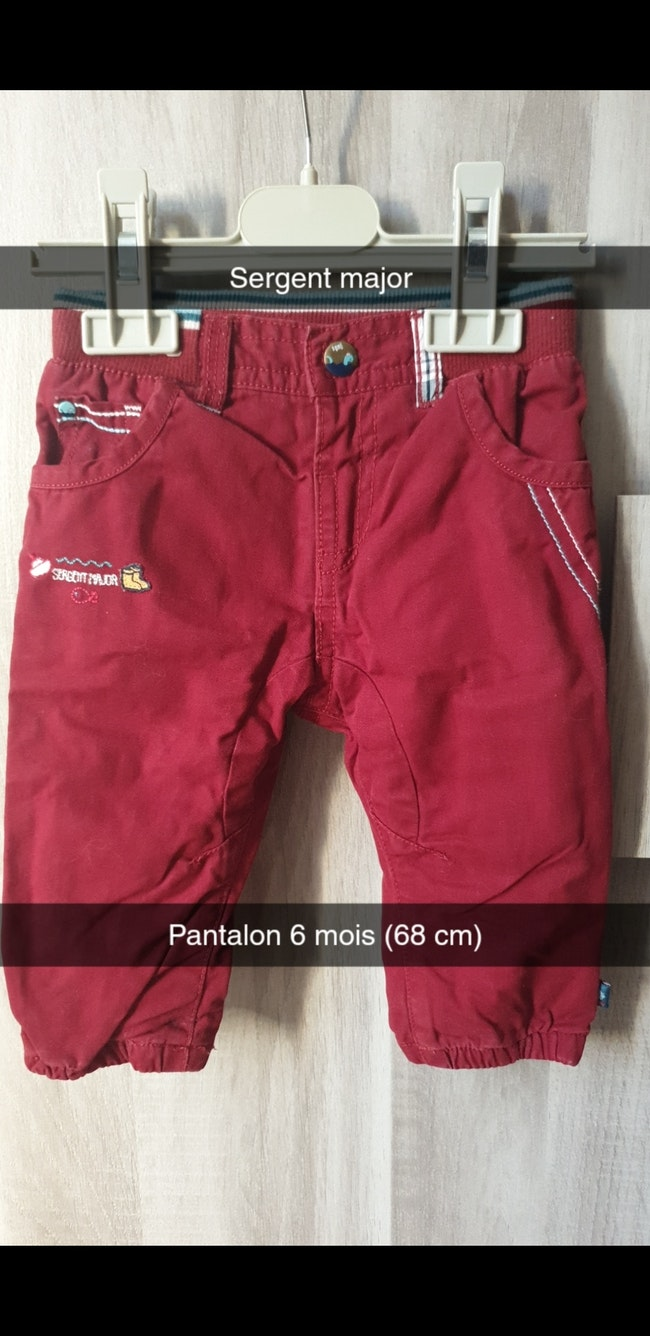 Pantalon 6 mois sergent-major