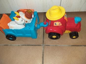 Mon super tracteur à remorque