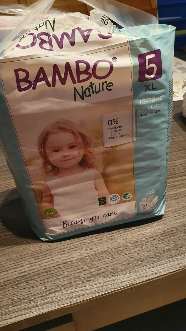 Couches Bambo Nature t5 12/18kg