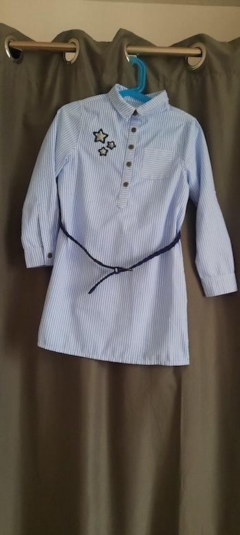 Robe chemise avec ceinture