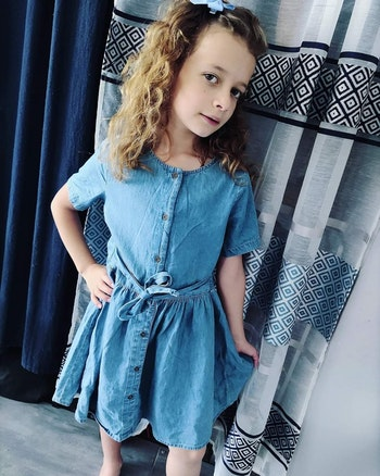 8 ans fille robe avec ceinture cyrillus