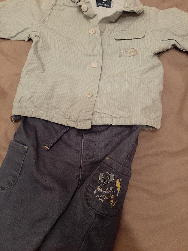Chemisier pantalon sergent major 3 mois
