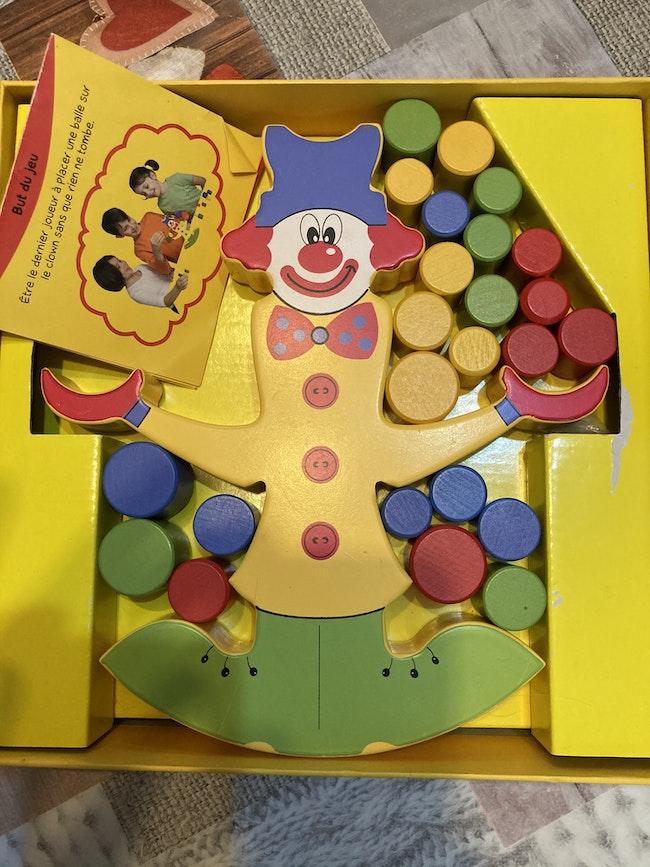Jeu coco le clown équilibriste