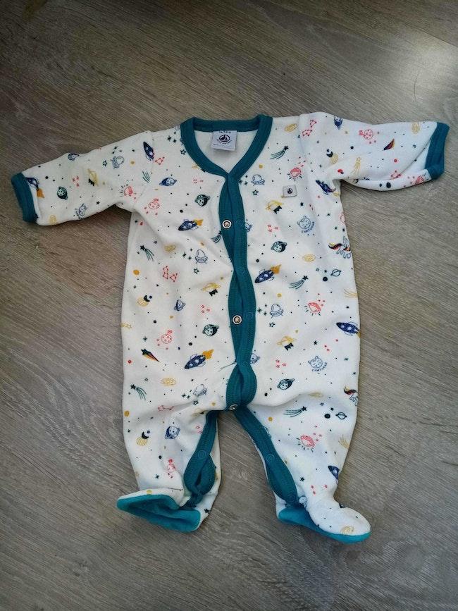 Pyjama velours 1 mois fusée