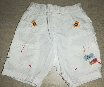 Short blanc 100% coton 3 mois