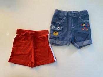 Lot 2 shorts jeans et coton