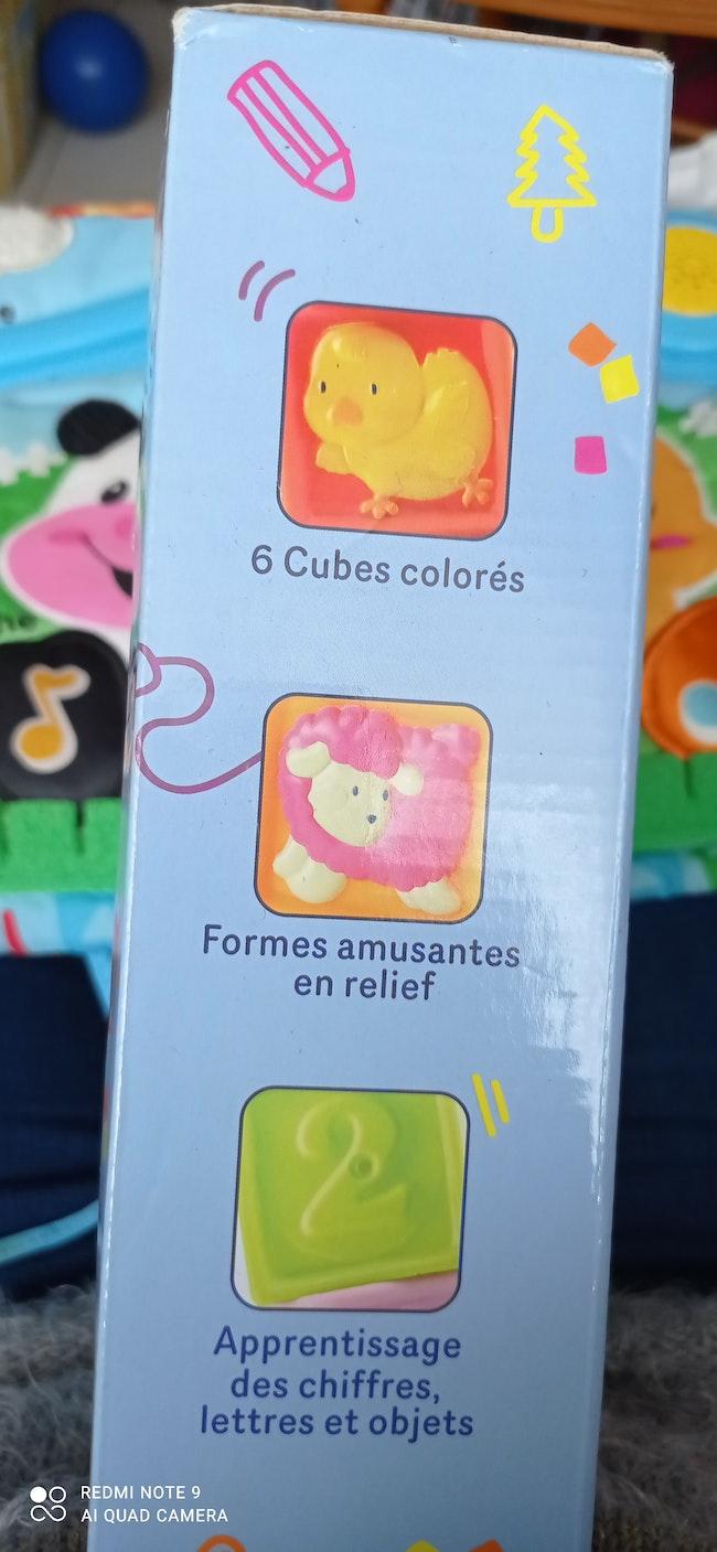 Jeu de cubes en plastique souple