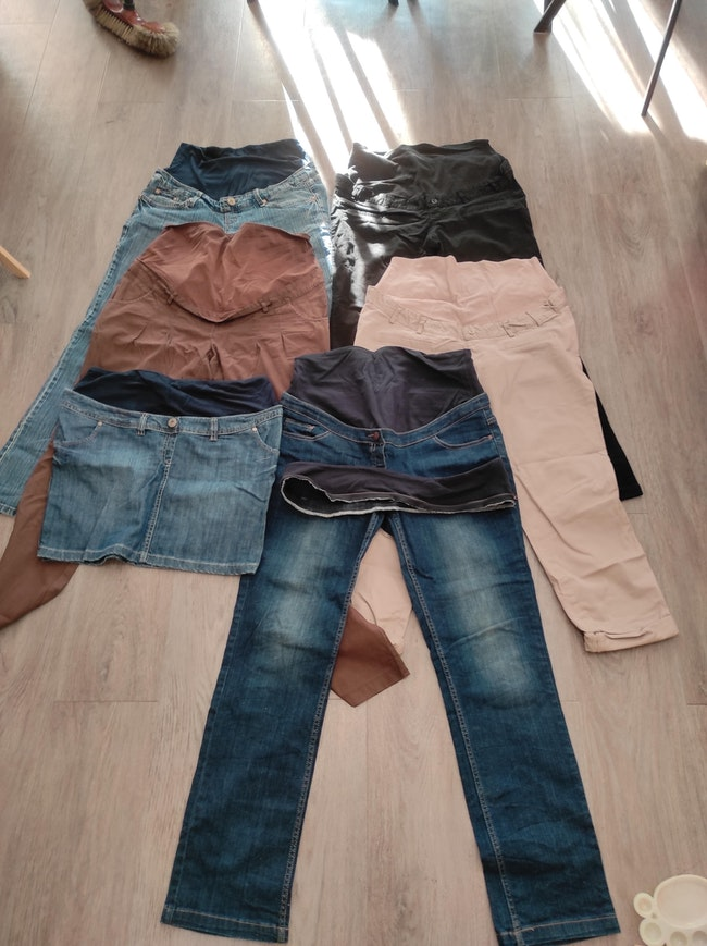 Lot pantalons et jupes de grossesse t40