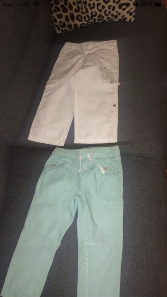 2 pantalons toile