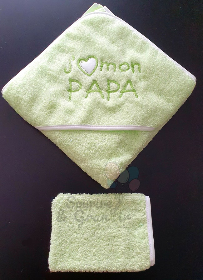 Cape de bain vert papa