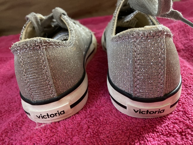 Sneakers victoria gris pailletté