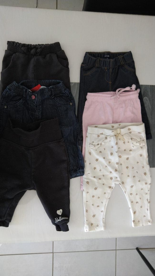 Lot 6 hauts manches longues et 6 pantalons