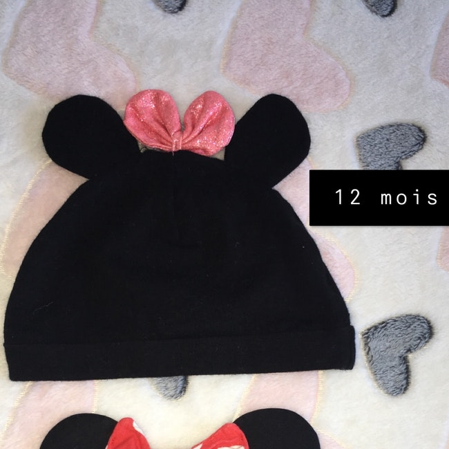 Bonnet Minnie 12 mois