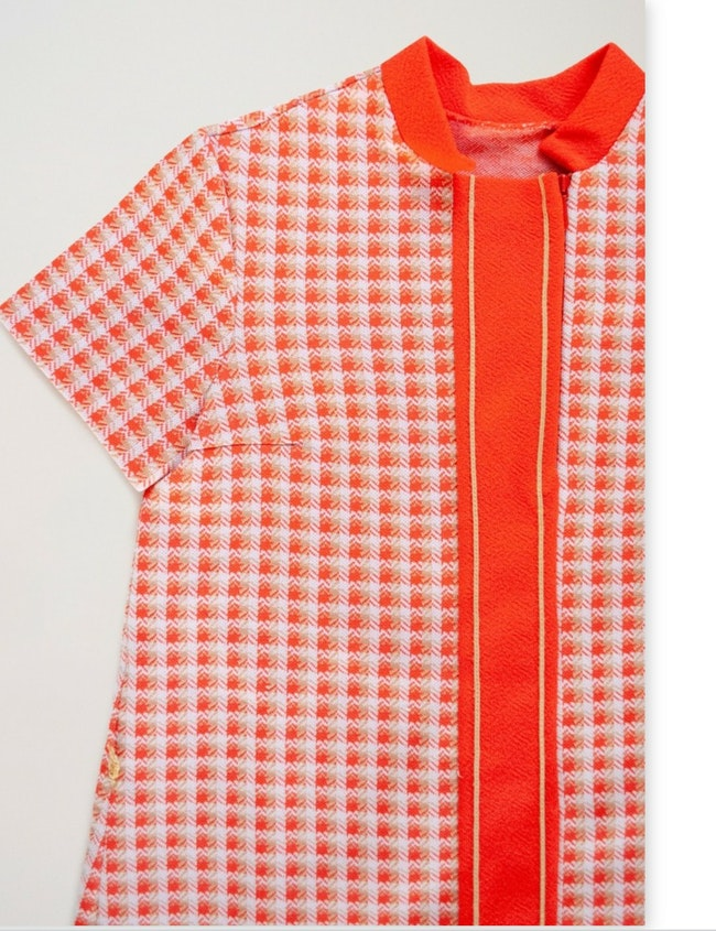 Robe Twiggy orange / 5 ans