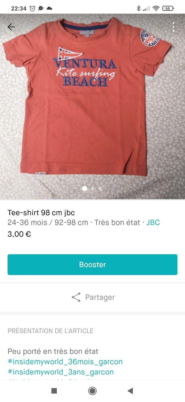 Lot de tee-shirt  garçon 98 cm