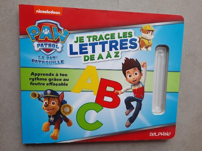Je trace les lettres de A A Z paw patrol