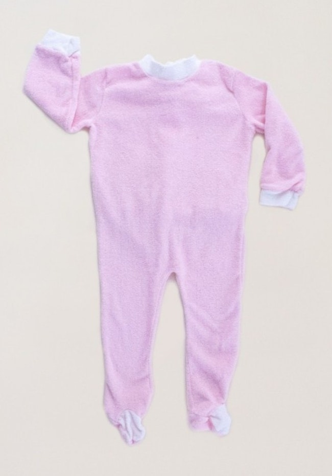 Pyjama éponge rose pastel