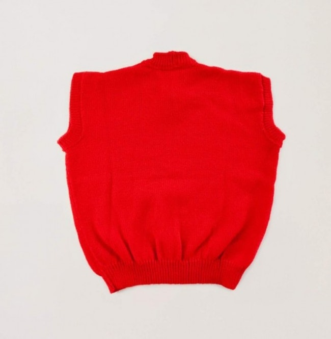 Pull sans manches rouge