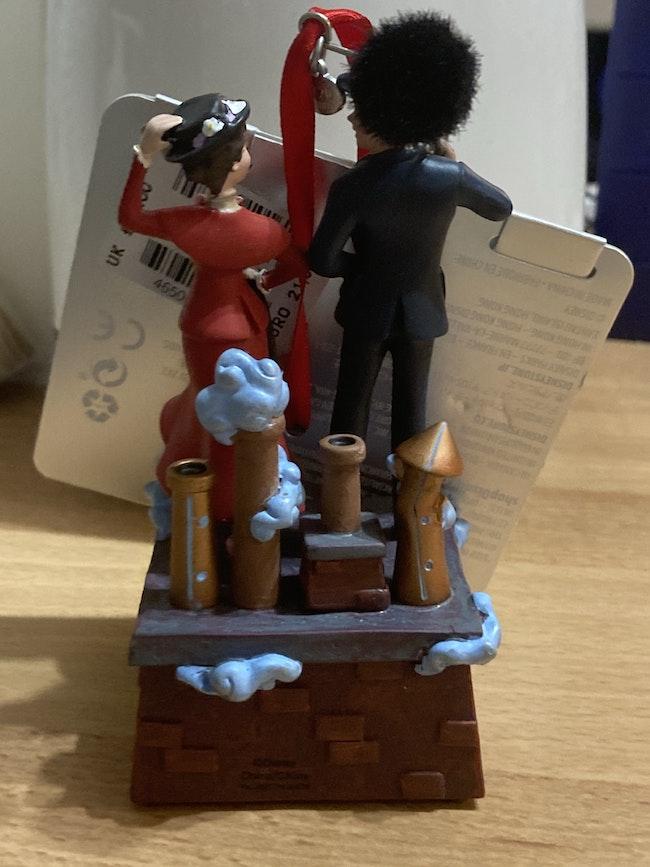 Décoration Noël musicale Mary Poppins et Bert à suspendre Disney