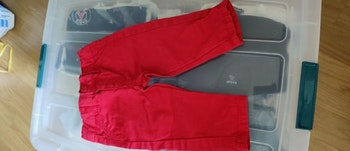 Jeans rouge  Taille 3 mois
