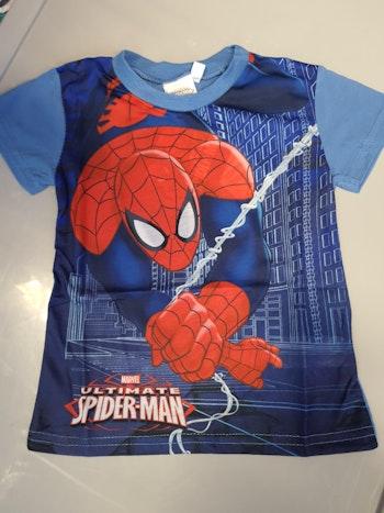 Tee-shirt spiderman bleu 5 ans