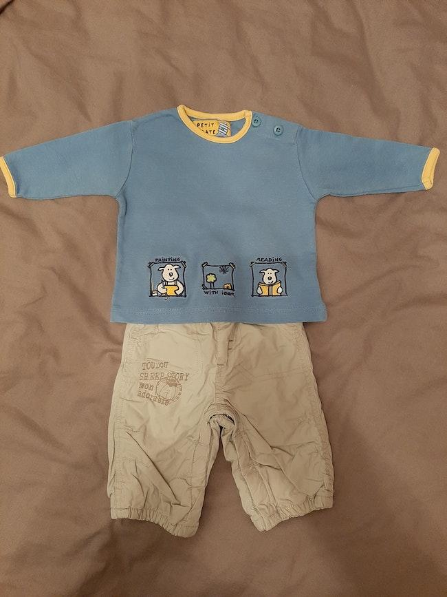T shirt pantalon kimbaloo 3 mois