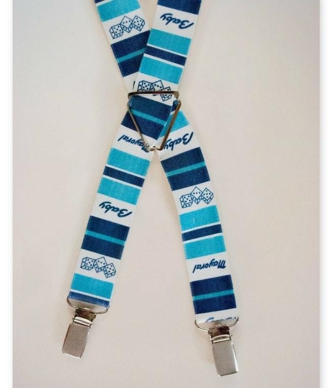 Bretelles rayées bleues / 5 ans 7,00 €