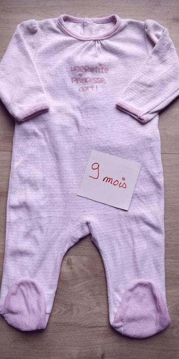 Pyjama dors-bien grenouillère fille 9 mois 71cm - pensez au lot