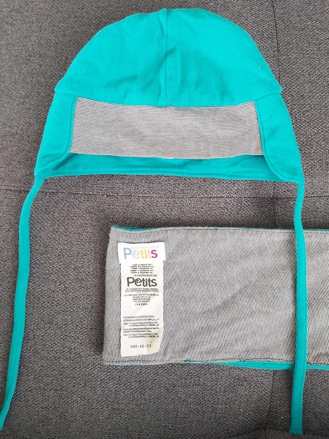 Bonnet et écharpe T2 49 cm demi saison