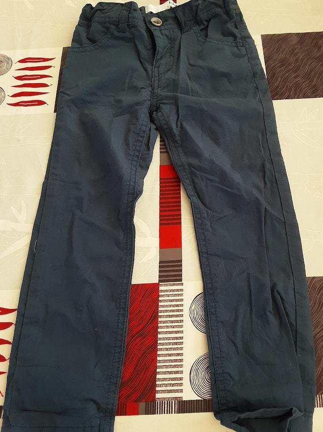 Pantalon toile bleu 4 ans